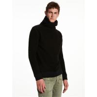 Scotch & Soda Sweater mit Wickelkragen Herren -  schwarz - Größe S