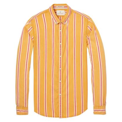 Scotch & Soda Freizeithemd mit Streifen - gelb - Größe S