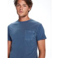 Scotch & Soda T-Shirt mit Brusttasche - indigo blau - Größe S