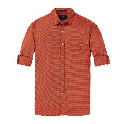 Scotch & Soda Freizeithemd orange kariert