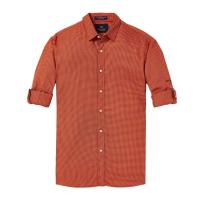 Scotch & Soda Freizeithemd - orange kariert - Größe M