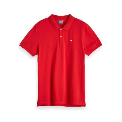 Scotch & Soda Piqué-Poloshirt - rot - Größe XXL