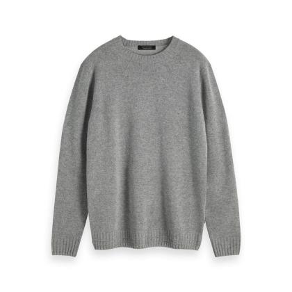 Scotch & Soda Strickpullover grau - Grey Melange - grau - Größe XL
