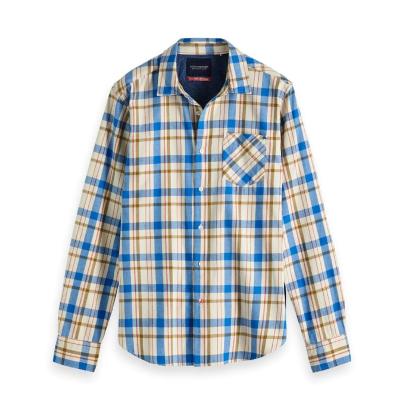 Scotch & Soda Amsterdams Blauw Freizeithemd gestreift creme/blau XXL