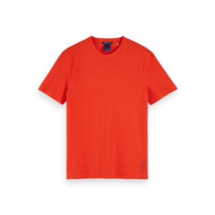 Scotch & Soda T-Shirt aus Baumwoll-Piqué - Fiesta Red - Größe L
