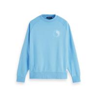 Scotch & Soda Sweatshirt mit Artwork-Logo - Hula Blue - Größe XL