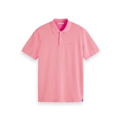 Scotch & Soda Piqué-Poloshirt - Hibiscus Pink - Größe XL