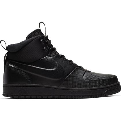 Nike Path Winter Winterschuhe Herren - BLACK/BLACK-MTLC PEWTER - Größe 10,5
