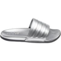 adidas Adilette Comfort Badesandalen Damen - SILVMT/SILVMT/CBLACK - Größe 5