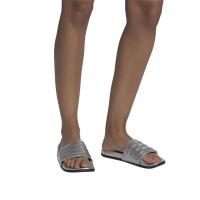 adidas Adilette Comfort Badesandalen Damen - SILVMT/SILVMT/CBLACK - Größe 6