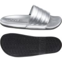 adidas Adilette Comfort Badesandalen Damen - SILVMT/SILVMT/CBLACK - Größe 7