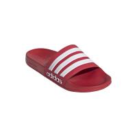 adidas Adilette Shower Badesandalen Herren - SCARLE/FTWWHT/SCARLE - Größe 9