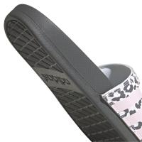 adidas Adilette Comfort Badesandalen Damen - GREFIV/CLPINK/FTWWHT - Größe 8