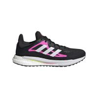 adidas Solar Glide 3 W Runningschuhe Damen - CBLACK/FTWWHT/SCRPNK - Größe 6
