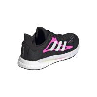 adidas Solar Glide 3 W Runningschuhe Damen - CBLACK/FTWWHT/SCRPNK - Größe 8