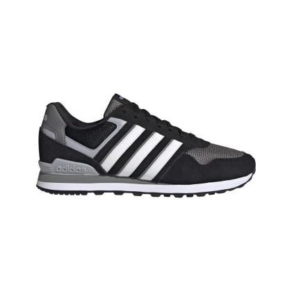 adidas 10K Sneaker Herren - CBLACK/FTWWHT/GREFOU - Größe 9-