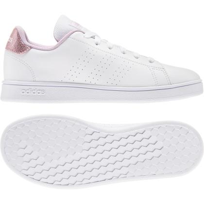 adidas Advantage K Sneaker Kinder - FTWWHT/FTWWHT/GRETWO - Größe 6