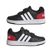 adidas Hoops 2.0 CMF C Sneaker - CBLACK/FTWWHT/VIVRED - Größe 28