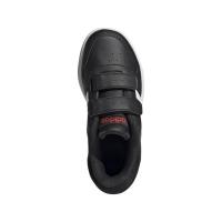 adidas Hoops 2.0 CMF C Sneaker - CBLACK/FTWWHT/VIVRED - Größe 31