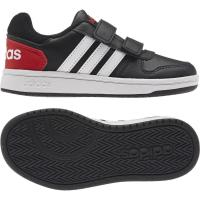 adidas Hoops 2.0 CMF C Sneaker - CBLACK/FTWWHT/VIVRED - Größe 33-