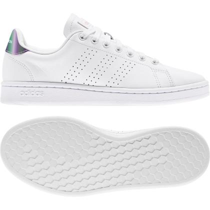 adidas Advantage Sneaker Damen - FTWWHT/FTWWHT/CLELIL - Größe 8
