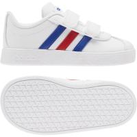 adidas VL Court 2.0 CMF I Sneaker Kinder - FTWWHT/ROYBLU/VIVRED - Größe 23