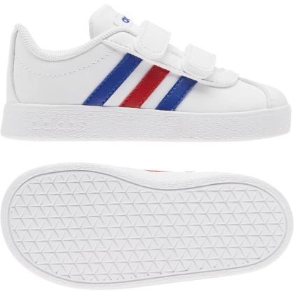 adidas VL Court 2.0 CMF I Sneaker Kinder - FTWWHT/ROYBLU/VIVRED - Größe 23-
