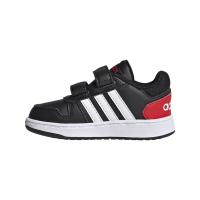 adidas Hoops 2.0 CMF I Sneaker Kinder - CBLACK/FTWWHT/VIVRED - Größe 23