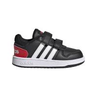 adidas Hoops 2.0 CMF I Sneaker Kinder - CBLACK/FTWWHT/VIVRED - Größe 23-