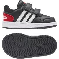 adidas Hoops 2.0 CMF I Sneaker Kinder - CBLACK/FTWWHT/VIVRED - Größe 24