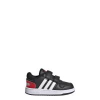 adidas Hoops 2.0 CMF I Sneaker Kinder - CBLACK/FTWWHT/VIVRED - Größe 25-