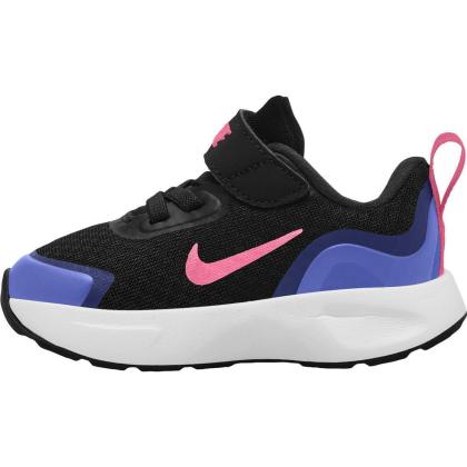 Nike Wear All Day (TD) Sneaker Kinder - BLACK/SUNSET PULSE-SAPPHIRE - Größe 9C