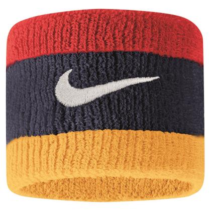 Nike Swoosh Schweißbänder 2er Pack - dunkelblau/rot/gelb - 9380/4-428