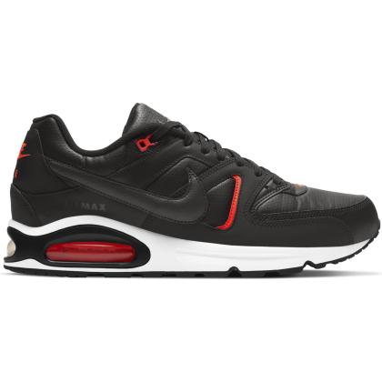 Nike Air Max Command Sneaker Herren - BLACK/DK SMOKE GREY-BRIGHT CRIMSON-WHITE - Größe 8