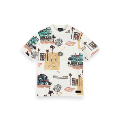 Scotch & Soda T-Shirt mit Allover-Print - 160850-0220-v