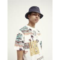 Scotch & Soda T-Shirt mit Allover-Print - Combo D - Größe S