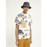 Scotch & Soda T-Shirt mit Allover-Print - Combo D - Größe M