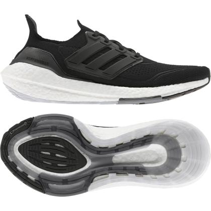 adidas Ultraboost 21 Runningschuhe Herren - CBLACK/CBLACK/GREFOU - Größe 7-