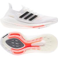 adidas Ultraboost 21 Runningschuhe Damen - FTWWHT/CBLACK/SOLRED - Größe 7