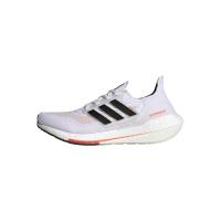 adidas Ultraboost 21 Runningschuhe Damen - FTWWHT/CBLACK/SOLRED - Größe 7-