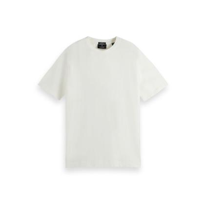 Scotch & Soda Basic T-Shirt - Off White - Größe XXL