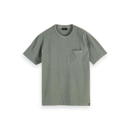 Scotch & Soda Piqué-T-Shirt - Army - Größe M