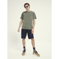 Scotch & Soda Piqué-T-Shirt - Army - Größe XXL