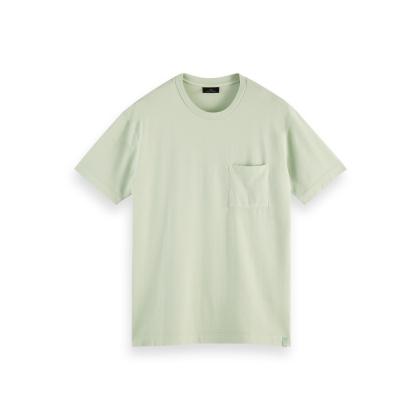 Scotch & Soda Piqué-T-Shirt - Seafoam - Größe S