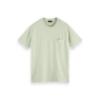 Scotch & Soda Piqué-T-Shirt - Seafoam - Größe L