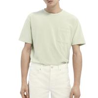 Scotch & Soda Piqué-T-Shirt - Seafoam - Größe XXL