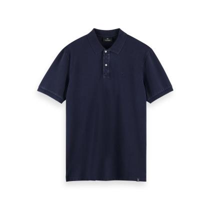 Scotch & Soda Piqué-Poloshirt - Night - Größe M