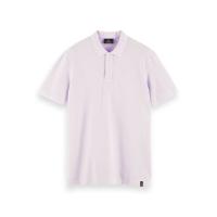 Scotch & Soda Piqué-Poloshirt - Lilac - Größe L