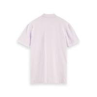 Scotch & Soda Piqué-Poloshirt - Lilac - Größe XL
