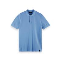 Scotch & Soda Piqué-Poloshirt - Seaside Blue - Größe XXL